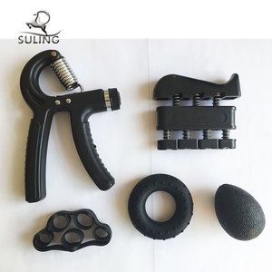 Adjustable hand grip exerciser and finger power set