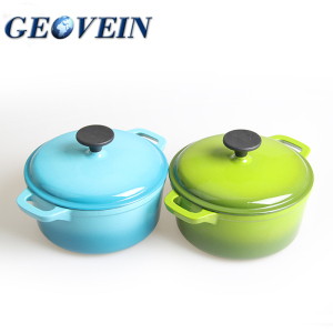 New fashion soup pot Enamel Cast Iron hot pot casserole set