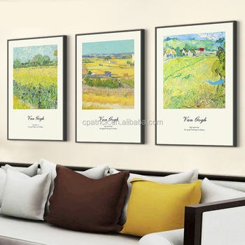 3 Panels Framed Modern Wall Art Picture Of Hand Maded Oil Painting ...