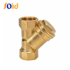 Threaded End PN16 Brass Y Strainer with Blow off Plug