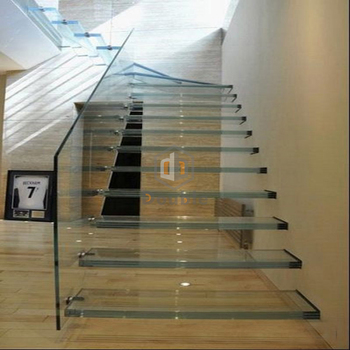 Granite Floating Stair Tread Glass Cantilever Staircase Led Floating Stairs  - Buy Granite Floating Stair Tread,Glass Cantilever Staircase,Led Floating