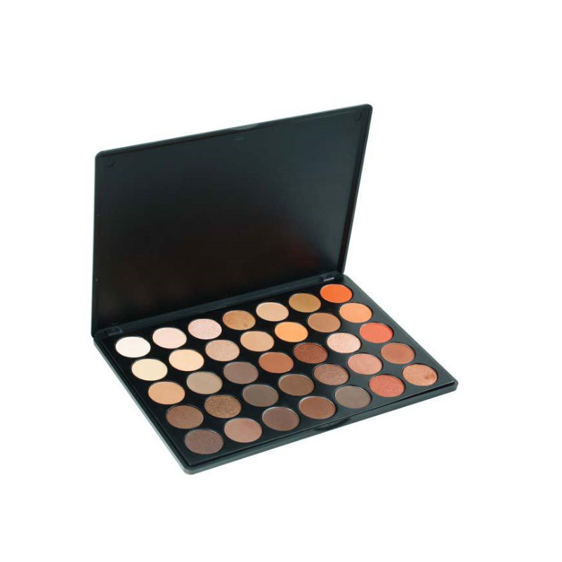 Make up cosmetics Private label oem makeup best 35 color eyeshadow palette for brown