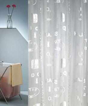 Semi Transparent PEVA PVC Bath Plastic Shower Curtain