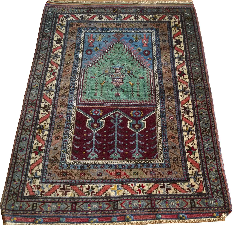Get Quotations Turkish Rug Wool 3 28 X 4 58 Ft Prayer Area Carpet Home Decor