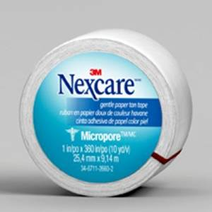 Nexcare(TM) Micropore(TM) Paper First Aid Tape, 530-P1/2, 1 in x 10 yds, Wrapped