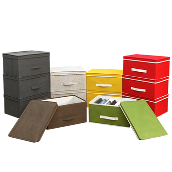 Stackable Collapsible Non Woven Storage BiN Box, Foldable Felt Storage Box  With Lid