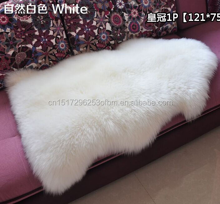 New 100*65CM 100%Real Soft Sheepskin Chair Cover Warm Hairy Carpet Seat Pad Fur Fluffy Area Rugs Washable Bedroom