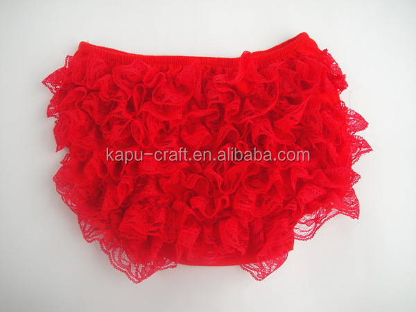 wholesale red baby clothes from China / ruffle panties baby panties bloomer/ baby lace bloomers 2016