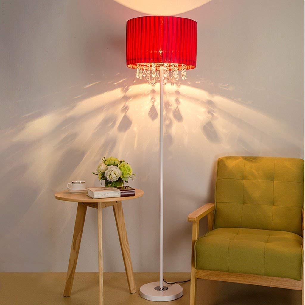 DEED Floor Lamp-Led Modern Simple Floor Lamp European Style Living Room Crystal Floor Table Lamp Creative Bedroom Bedside Eye Protection Vertical Table Lamp