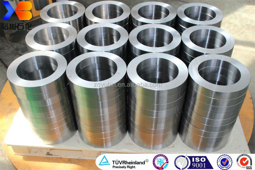 Off standard 34crnimo forged steel ring with high quality