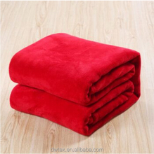 Fashionable Red Flolded Blanket Bed Sheeting for Home TV Blankets