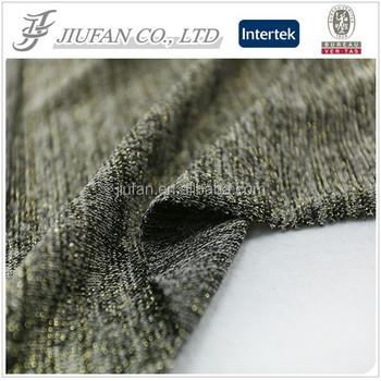 jiufan tekstil terbaru populer hacci poliester kain spandex dengan lurex