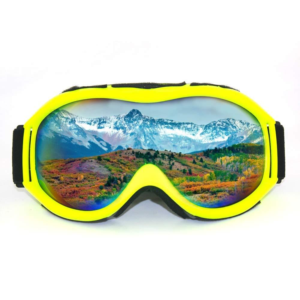 Ski Goggles - Dual Lens Ski/Snowboard Snow Goggles Over Glasses Anti-Fog & UV 400 Protection Men, Women, Youth