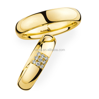 New Design Wedding Rings 9K 10K 14K 18K Gold with Diamond Wedding Bands