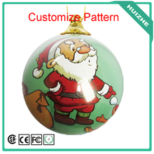 Factory Wholesale Customize Pattern Giant Plastic Ornament Decoration Christmas Ball