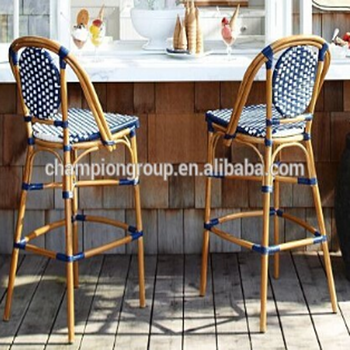 Phenomenal Cafe Rattan Aluminum Bar Chair French Style High Counter Bar Stool Buy Cheap Rattan Bar Stools Bar Stool High Chair Aluminum Bar Chair Product On Machost Co Dining Chair Design Ideas Machostcouk
