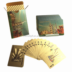 Dubai burj al arab gold playing cards