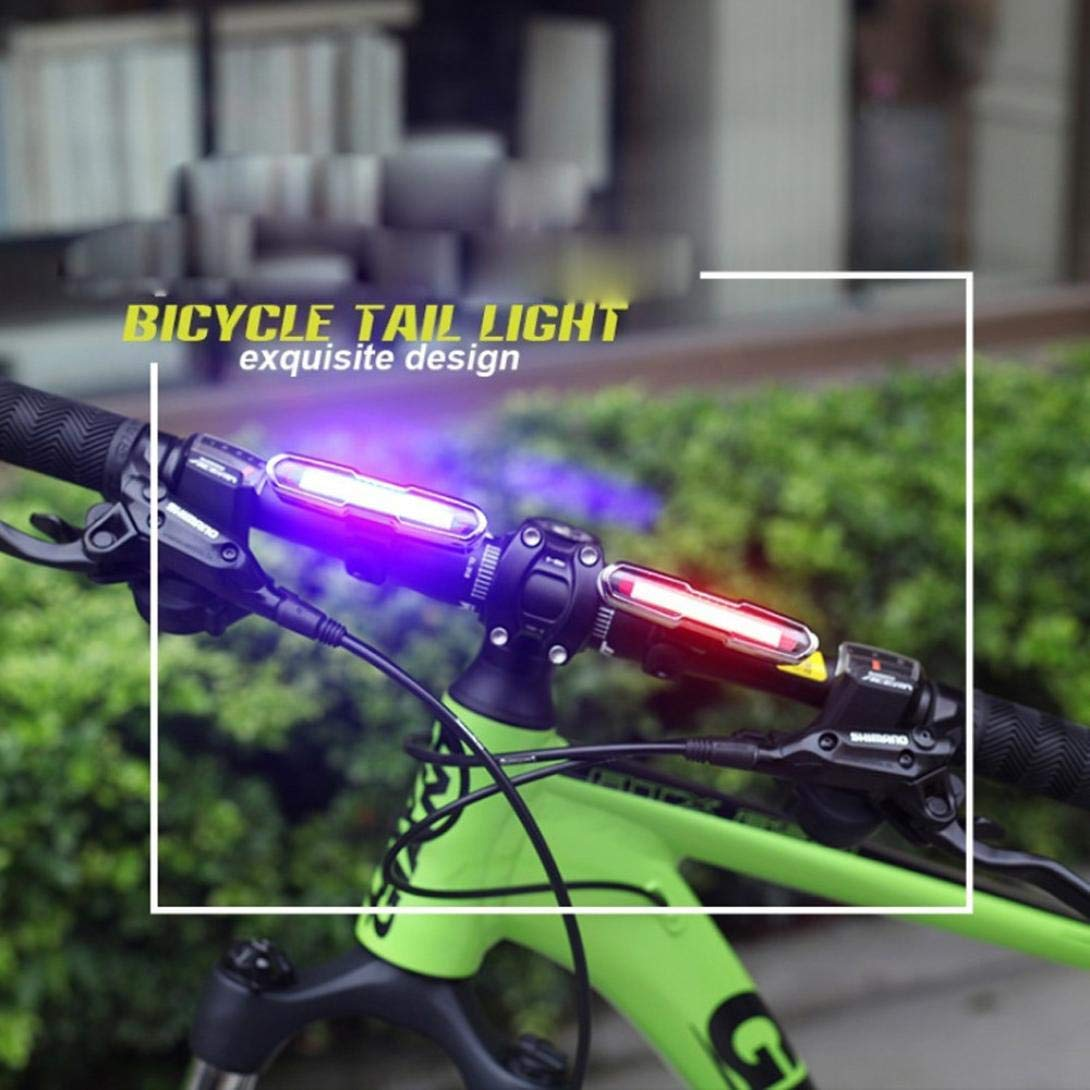 Glumes Front/Rear Bike Light USB Rechargeable|Ultra Bright Powerful Safety Taillight|High Intensity Rear LED Accessories|5 Light Mode Options|IPX6 Waterproof|for all Bikes/Helmets (Red)