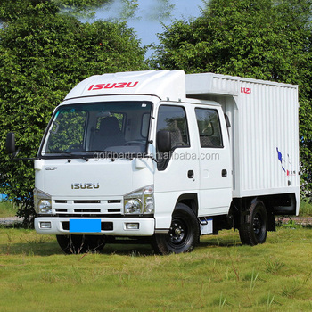 New Cheap Double Row 100P Isuzu Mini Cargo Van Trucks For Sale