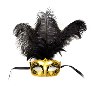 different colors new design masquerade masks with ostrich feathers