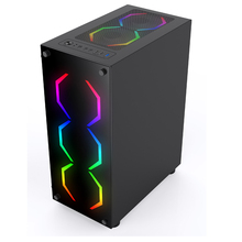 SATE(K380)2019 Best Selling High Quality ATX/Mic ATX/ ITX Tempered Gaming Computer Case with RGB Dazzle fans Support OEM/ODM