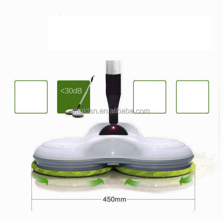 Factory direct sell intelligent double wheel dual spin electric mop