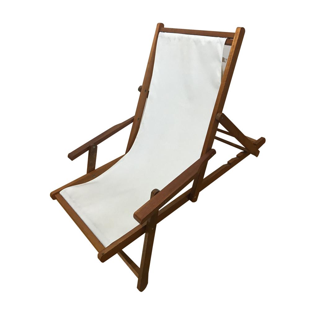 silla de playa de madera plegable de lona