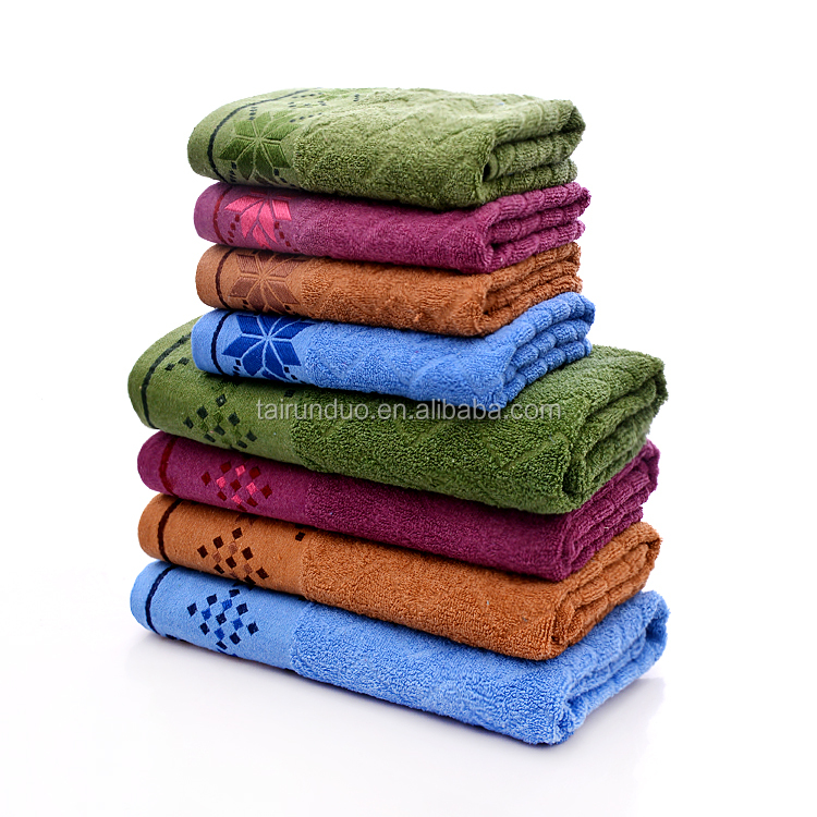 High quality 100% cotton bath towel set