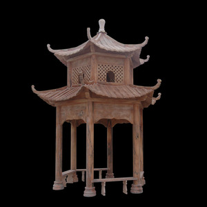 Antique pavilion outdoor gazebo with metal roof