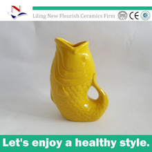 cute ceramic fish water jug for Children's gift