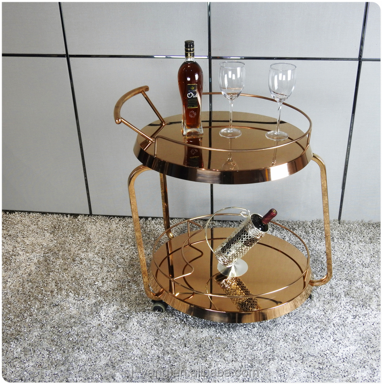 small hotel food servving cart wine serving cart with high quality