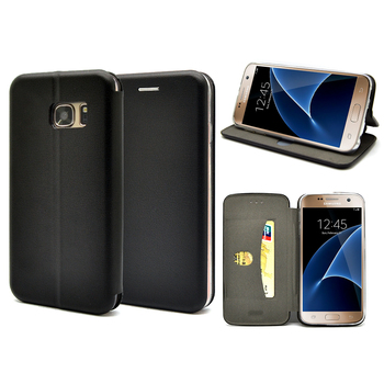 2016 Newest Full Curved Magnetic Closured wallet leather case for Samsung S7 edge