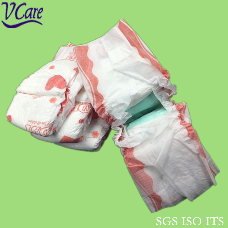 high quality absorption soft and dry clothlike cute disposable sleepy baby diapers
