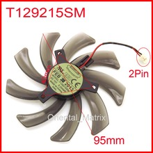 EVERFLOW T129215SM 95mm 12V 0.25A For Gigabyte GV-N650OC-1Gl 2Gl GVN550WF2 N56GOC R667D3 Graphics Card Cooling Fan 2Pin
