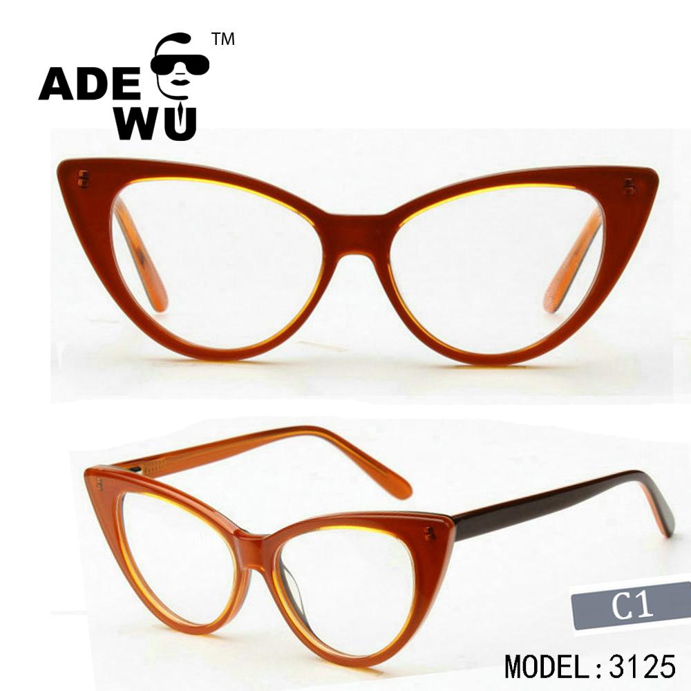 Ade Wu 2017 Nuevo modelo italiano diseño de lujo gafas de gato marco ...