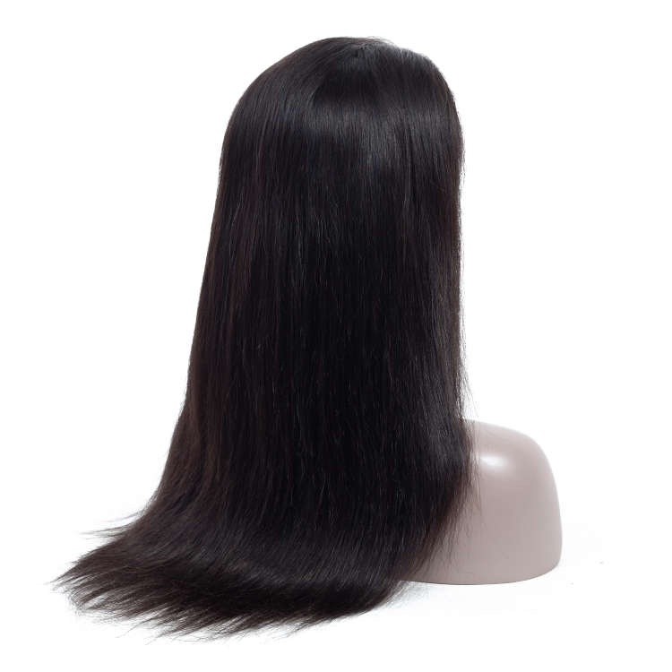 100 Unprocessed Cheap Raw Indian Virgin Remy Human Hair Lace Front Wigs Natural Quality Cuticle Aligned Straight Human Hair
