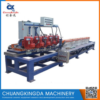 Automatic artificial quartz stone machinery manufacturer factory round edge 180 degree edge machine