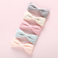 Factory China Manufacturer Fabric Hair Clips & Hair Bows For Girl