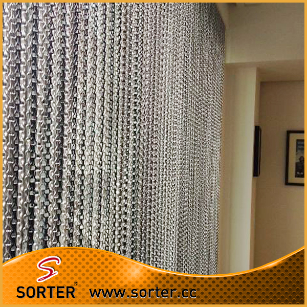 hot sale chain link string room divider space partition for restaurant