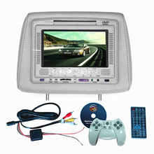 7inch Wide Screen Car Headrest DVD Player With IR SD USB Wireless Game