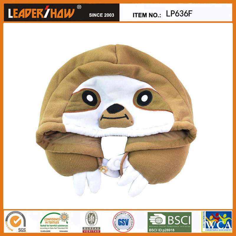 Animal Microbead Pillows : Funny Animal Style Mask Pillow U-shape Microbead Neck Pillow Hoodie Design - Buy Sleep Mask,U ...