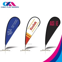 outdoor standard activity promotion aluminum flagpole feather fly banner