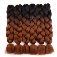Ombre Color Synthetic Braiding Hair Extensions for Crochet Hair Jumbo Twist Braid
