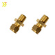 Custom made cnc machined hex head brass screw hex head sems screw