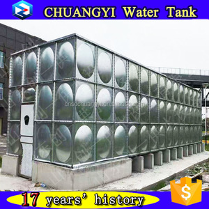 Hot pressed galvanized hot water tank, galvanized steel hot water tank, galvanized rain water tank