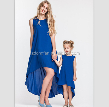 9ad6058da9 Chiffon New Style Matching Mother And Me Dresses Maxi Long Frock Design  Child Dress