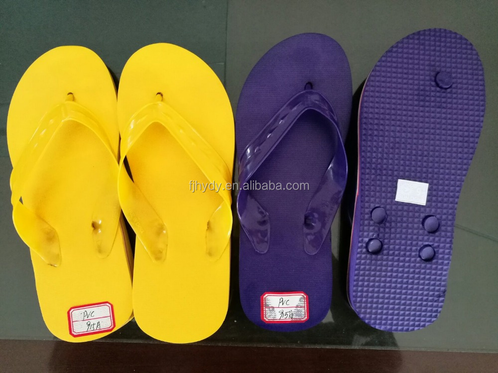 multi color PVC strap men and women rubber slippers