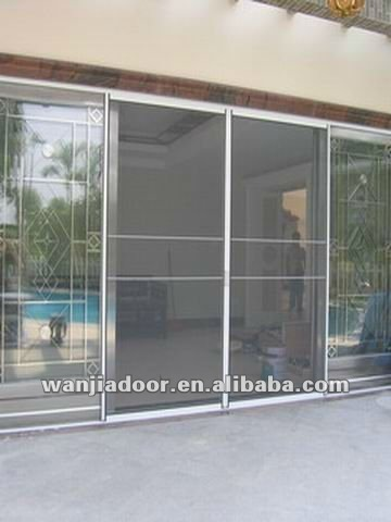 Pvc Sliding Doors With Mosquito Net Insect Screen Fly