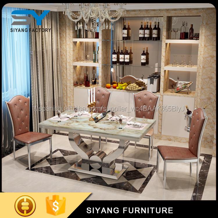 Mesa de comedor de vidrio templado de mesas modernas para ventas ...