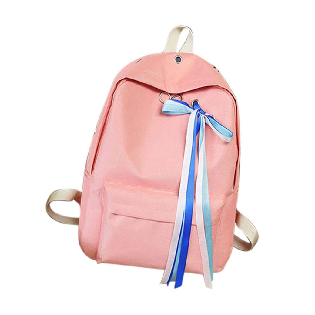 db28df4fe Get Quotations · Vintage Ribbons Canvas Backpack, Outsta Unisex School Bag Rucksack  Classic Basic Casual Daypack Travel Hiking